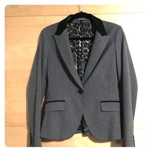 Express heathered gray and black blazer